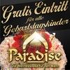 Freikarte für Geburtstagskinder  im Paradise Graz