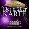 10er und 20er Karte - ab sofort erhältlich im FKK-Paradies