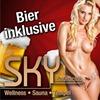 Bier im Eintrittspreis enthalten im SKY Saunaclub